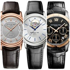 Watch number 5 has to be my favourite. 6 Most Popular Raymond Weil Watches For… Swiss Watch Brands, Luxury Watch Brands, Most Beautiful Watches, Watch Blog, Raymond Weil, Android Watch, Swiss Army Watches, Automatic Watches For Men, Number 5