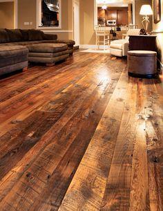 Reclaimed Tobacco Pine Flooring | Wide Plank Tobacco Pine | Olde Wood