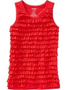 Girls Ruffle-Tiered Tanks | Old Navy