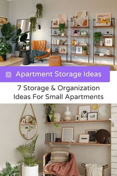 There are some advantages to having a small apartment, but the biggest drawback is the lack of storage space. So let's help you maximize your space with these small apartment storage ideas and organization ideas Small Apartment Storage, Small Space Storage, Small Apartments, Storage Spaces, Flat Organization, Small Space Organization, Small House Plans, Small Living Rooms, Decorating Small Spaces
