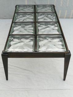 40s Glass Block Coffee Table 8
