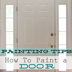 Freshly-painted doors and trim can make a huge difference in bringing your home's color scheme together. I know this for a fact since I have been living with two different....