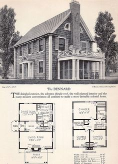 Vintage House Plans On Pinterest