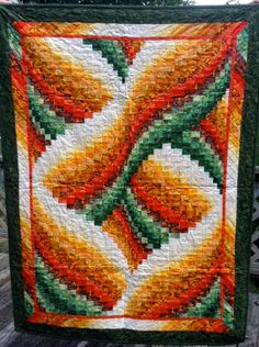 Bargello Twist Quilt by KellarGirlCreations on Etsy, $500.00