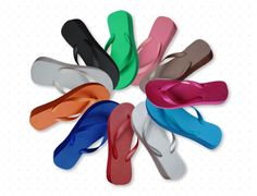 Shop for on Etsy, the place to express your creativity through the buying and selling of handmade and vintage goods. Heeled Flip Flops, Wedge Flip Flops, Custom Flip Flops, Bridal Flip Flops, Comfortable Flip Flops, Bubblegum Pink, 5 Inch Heels, Dance The Night Away, Organza Bags