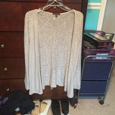 cardigan mix of white and tan colors, flowy, mint condition, worn once American Eagle Outfitters Sweaters Cardigans