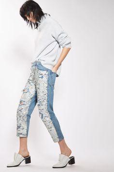 MOTO Shimmer Sequin Hayden Jeans
