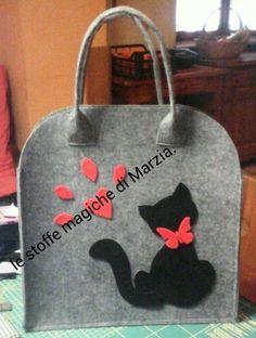 Risultati immagini per borse feltro fai da te gatti