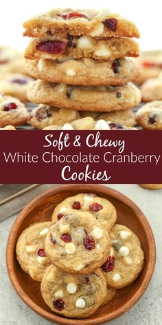 These White Chocolate Cranberry Cookies are incredibly soft, chewy, thick, and full of white chocolate chips and dried cranberries. Perfect for your holiday cookie tray!