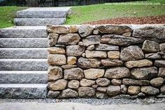 Ugliest Stone Wall Ever But I Like The Big Wide Steps