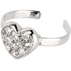 Body Candy 925 Sterling Silver Clear Black Twin Flower Toe Ring