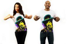 Handpainted Tshirts inspired in Jimi Hendrix #jossart