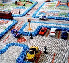 Die 10 schönsten Spielteppiche fürs Kinderzimmer - 3D-Teppich-Detailansicht #sparbaby