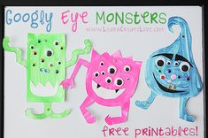Googly Eye Monster Crafts