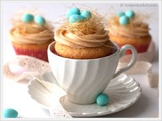 An Easter tea. Oh the possibilities! #Easter #cupcake
