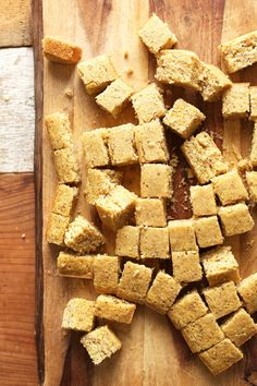 Fluffy, perfectly sweet vegan cornbread with just 10 ingredients. A comforting side for soups and chili, or to make into croutons for stuffing and salads.