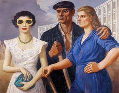 Wojciech Fangor, Figures (Postaci), 1950, oil on canvas, 100 x 125 cm, photo…