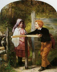 Pay Toll. John George Brown (1831 – 1913, English-born American)