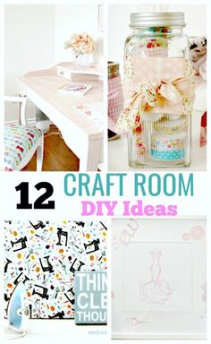 Create the craft room of your dreams on a budget. Inspiration on craft room organization, storage, pegboards, diy art and work spaces for the home craft room and home office. #craftroom #craftroomideas #craftroom organization, #scrapbookingroom