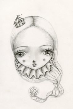 Carnival Girl drawing by Lauren Saxton