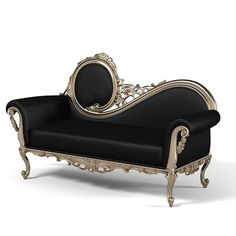 Lounge classic carved baroque luxury victorian couch