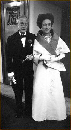 H.R.H. Prince Edward, Duke of Windsor (formally H.M. King Edward VIII) and Wallis, Duchess of Windsor. (Formally Wallis Simpson.)