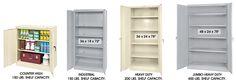 Steel Storage Cabinets, Industrial Storage Cabinets in Stock - ULINE