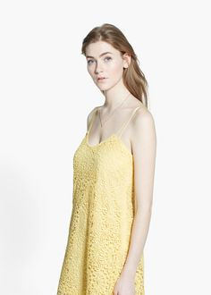 Guipure dress #mango