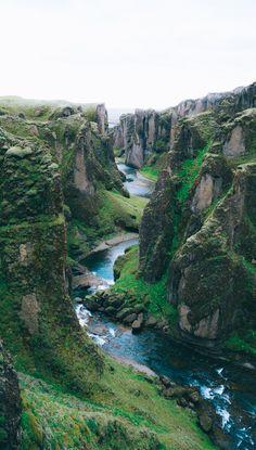 Fjaðrárgljúfur canyon, a top must see place on a road trip through Iceland