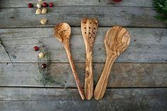 Cooking spoon kitchen utensils Wood spatula Olive wood utensil set Gift for her Cooking Spoon, Cooking Utensils Set, Kitchen Utensils, Wooden Fork, Wood Spoon, Kitchen Spatula, Wooden Kitchen, Kitchen Decor, Kitchen Design
