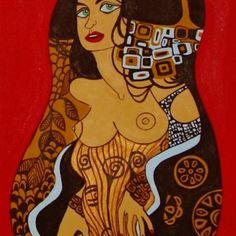 "Descreve o teu pin...  Pintura, "" A mulher ""."