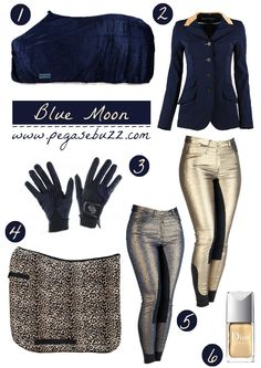www.pegasebuzz.com | Equestrian fashion : blue moon  The breeches may be a little much too for sparkles but they're tempting!