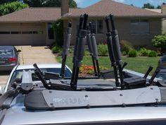 DIY kayak rack