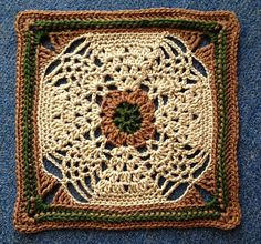 "Ravelry: Project Gallery for Pineapple Expression 9""/12"" Afghan Block Square pattern by Margaret MacInnis"