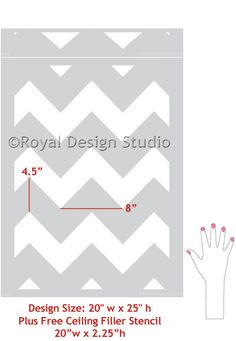 Chevron Wall Stencil Large Stencil to Paint Chevron Stripes for a Wallpaper Look