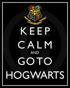 Keep Calm Series-Keep Calm and Go To Hogwarts-8x10-inch Digital Printable Sheet. $3.00, via Etsy.