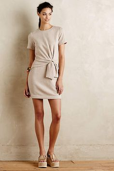 Tied Jersey Dress - #anthrofave