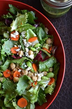 Edamame, Quinoa & Feta Cheese Salad with Parsley-Lime Dressing