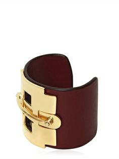 TOD'S - LEATHER AND METAL HORSE BIT BRACELET