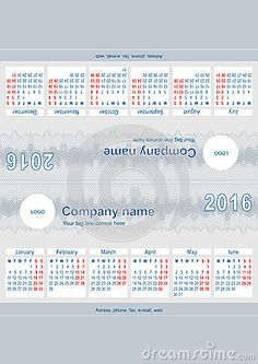 Print ready desktop calendar for year 2016, made from just a single sheet of A4 paper, folded in 4 parts. 2 sides, 6 months each, week starts Monday, dimensions: 210mm x 105mm