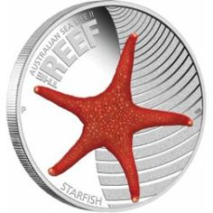 Australian Sea Life II - The Reef - Starfish 2011 1/2oz Silver Proof Coin | The Perth Mint