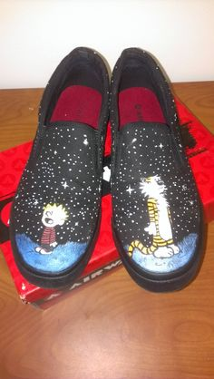 calvin and hobbes shoes!