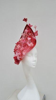 Wedding Fascinators, Wedding Hats, Headpieces, Derby Attire, Mother Of The Bride Hats, Pink Fascinator, Mad Hatter Hats, Kentucky Derby Hats, Pink Blossom
