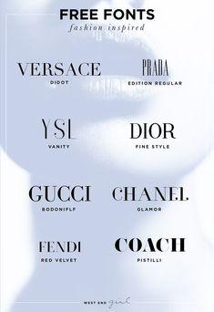 Fashion Font Freebie Kirsten Kizerian West End Girl - Fonts - Ideas of Fonts - Didot Fashion Typography, Fashion Fonts, Retro Typography, Fashion Branding, Fashion Fashion, Logo Inspiration, Mode Logos, Best Serif Fonts, Fonts For Logos