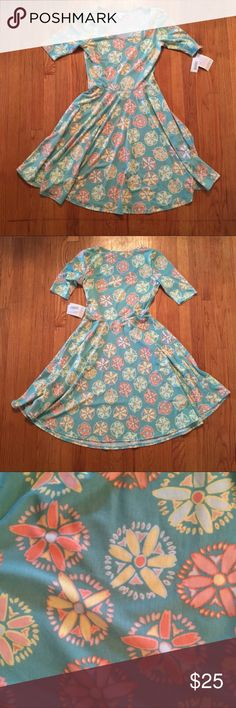 VARIOUS NWT Lularoe Mint Dress Floral Floral pattern in yellow and light orange colors LuLaRoe Dresses