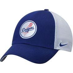 Los Angeles Dodgers Nike Heritage 86 Fabric Mix Performance Adjustable Hat  - Royal/White