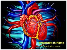 heart cardiology powerpoint template. download best quality, Modern powerpoint