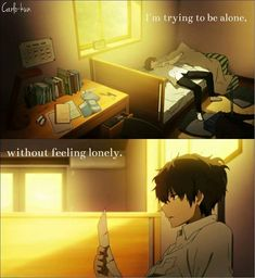 Quotes and inspiration QUOTATION – Image : As the quote says – Description Me Everyday. Anime:Hyouka Sharing is love, sharing is everything Sad Anime Quotes, Find Quotes, True Quotes, Hyouka, Feeling Lonely, Anime People, True Feelings, Quotations, Life