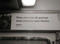 Un métro vers le sans limites