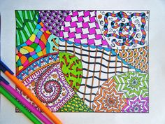 Zentangle for kids - Google Search